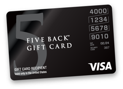 Visa five-back card